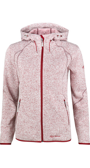 IVY by High Colorado Rax-L Strickfleece Hoodie Damen rot melange